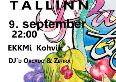 2017 BALKAN BEATS TALLINN vol. 9 poster design and illustration, segatehnika - mixed technique, Kaia Otstak