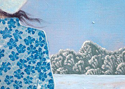 2017 KÕRVULUKUSTAV VALGUS detail 4 - detail 4 THE DEAFENING LIGHT, akrüül lõuendil - acrylic on canvas, Kaia Otstak