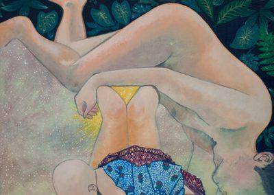 2017 MAA ARMASTAN - I, EARTH LOVE, akrüül lõuendil - acrylic on canvas, 120 x 100 cm, Kaia Otstak