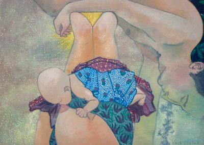 2017 MAA ARMASTAN detail 5 - detail 5 of I, EARTH LOVE, akrüül lõuendil - acrylic on canvas, Kaia Otstak