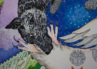 2018 SÜDAME ULG HINGE HUIKES - THE HOWL OF THE HEART IN THE HOOT OF THE SOUL, detail I, Kaia Otstak