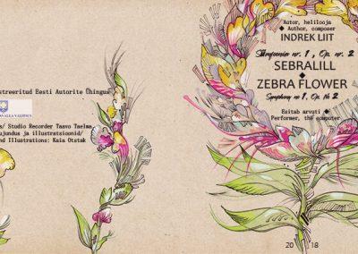 2018 SEBRALILL - ZEBRA FLOWER (Indrek Liit), CD design and illustration 02, Kaia Otstak