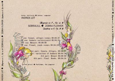 2018 SEBRALILL - ZEBRA FLOWER (Indrek Liit), CD design and illustration 04, Kaia Otstak