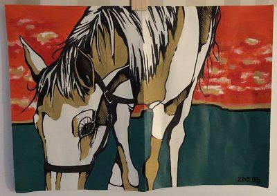 2005 CADILLAC, akrüül paberil - acrylic on paper, A3, Kaia Otstak