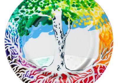2015 Kildudes jõgi - KILD 09 - River In Smithereens - FLINDER 09, portselanimaal - porcelain painting, d 26 cm, Kaia Otstak